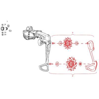 Galets SRAM EAGLE GX + chape interne